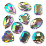 10pcs Large Mix CLEAR AB Acrylic Crystal Rhinestone Embellishments Craft Gems