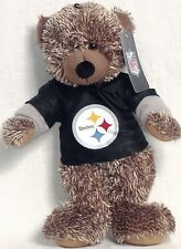 """Pittsburg Steelers 14"""" Sweater Hoody Bear With Team Logo and Color New With Tags"""
