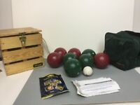 Vintage Sportcraft Bocce Ball Set - Made In Italy - 8 Balls + 1 Pallino - Used