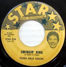 FLORA BELLE SINGER 45 Swingin Ring / Big Foot Sam R&B Teen GROUP Star w1159