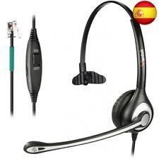 Auriculares Teléfono Fijo Cableados Monoaural, Micrófono con (Monaural F600S1)