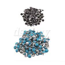 100 x Blue DIY Turquoise Rivet Spot Punk Bag Belt DIY Spikes Stud 8.5mm Dia