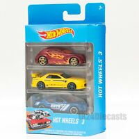 Hot Wheels Set of 3 cars, scale 1:64, CHOOSE YOUR OWN, model car toy gift pack