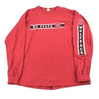 Vintage Men's XXL NC State Wolfpack Long Sleeve Spell Out T Shirt Made USA