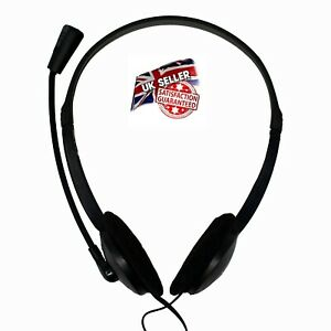 Quality Stereo   Headset With Microphone for  PC Laptop skype  zoom conference