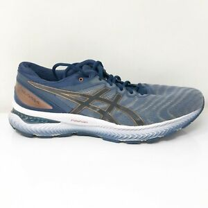 Asics Mens Gel Nimbus 22 1011A680 Blue Running Shoes Lace Up Low Top Size 11.5