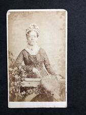 Victorian Carte De Visite CDV: Lady: Treble & Co: Named PARRITT: Fan