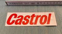 Aufkleber Castrol Autocollant Schriftzug rot 80er Jahre