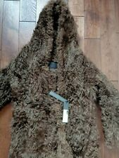 DROME Shearling Coat with hood brown Size L fit size 44-46 italian RRP 2,500