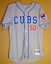 2015 CHICAGO CUBS DAN HAREN Gray #50 GAME WORN Size 48 Baseball MLB JERSEY