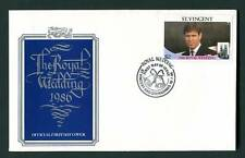 St Vincent 1986 FDC. Royal Wedding Prince Andrew First Day Cover