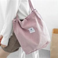 New Women's Corduroy Handbag Shoulder Messenger Bag Satchel Tote Purse Bags