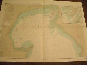 VINTAGE CHART,AFRICA,RED SEA,UNITED ARAB REPUBLIC,SUEZ BAY1960s