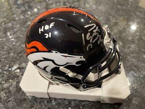 Peyton Manning Denver Broncos Signed Auto Speed Mini Helmet HOF 21 Inscription
