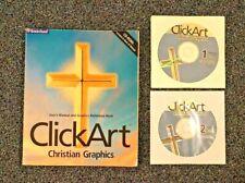 Click Art Christian Graphics 1998 Broderbund Manual & 2 disks             #01975