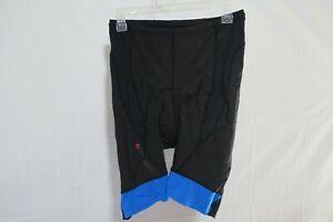 Louis Garneau CB Carbon 2 Cycling Shorts Men's Large Black/Blue Retail $149.99