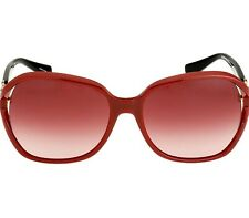 Coach Kissing C Plastic Frame Red Lens Ladies Sunglasses
