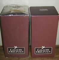 LOT OF 2 ~ VINTAGE 1984 AVON GALLERY ORIGINALS CANDLESTICKS ~ NEW IN BOX