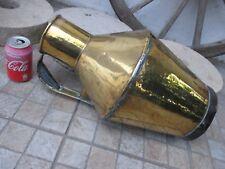Vintage Brass Tinsmith Handmade Huge 10 Litres Rare Farm Milk Ewer Vase Jar Pot