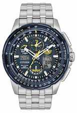 Citizen Men's Eco Drive Stainless Steel Blue Angels Skyhawk A-T Watch JY8058-50L