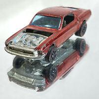 1968 Hot Wheels Sweet Sixteen Redline Custom Mustang Red Exterior Missing Hood