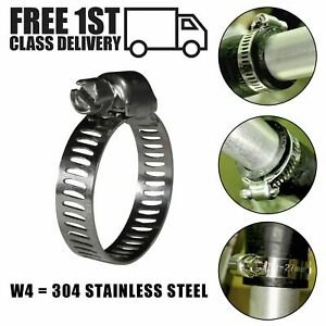 Jubilee Worm Drive Hose Clips Stainless Steel 304 Slotted Perforated Band Clamps