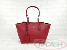 BIDSALE! UNUSED AUTHENTIC $1100 GUCCI RED Pebbled Leather Swing Tote Bag