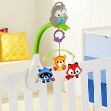 NWB Woodland Friends 3-in-1 Baby Musical Crib Mobile & linkable stroller mobile
