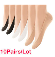 10 Pairs Womens Liner Socks No Show Boat Ballet Plain Footies Cotton Low Cut Sd