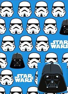 Hallmark Star Wars Storm Trooper Gift Wrap X2 Sheets X2 Tags