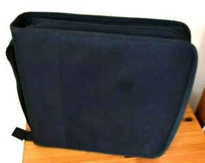 Strand Black Portable Compact Disc Case holding 208 CD's. With Carrying Handle