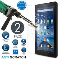"""2 PACK Tempered Glass Screen Protector Clear For Amazon Fire HD 8"""" 2017 & 2016"""