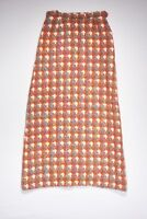 Vintage ABERCROMBIE & FITCH Skirt Womens 2 in Orange Ivory Fuchsia Teal Wool FRA
