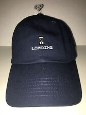 919d625cbd8 Urban Outfitters UO Navy Loading Logo Navy Blue Strapback Dad Hat Mens NEW!
