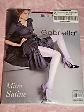 GABRIELLA 50 DENIER OPAQUE MICRO SATINE GLOSS TIGHTS - PINK - SIZE 3 MEDIUM