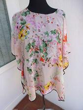 Markenlose geblümte Mini-Damenkleider im Tuniken-Stil
