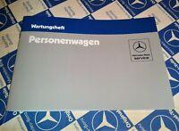 neues Wartungsheft Serviceheft Mercedes W126 W123 R107 W201 Stand 1984