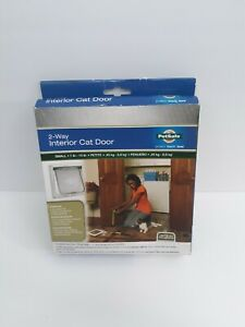 PetSafe ~ Small Pet 2-Way Indoor Flap Door Interior Use Dog Cat Up to 15lbs