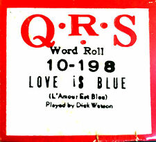 QRS Word Paul Mauriat LOVE IS BLUE L'Amour Est Bleu 10-198 Player Piano Roll