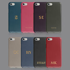 GOLDEN GLITTER INITIAL PLAIN COLOUR PERSONALISED PHONE CASE FOR IPHONE & SAMSUNG