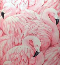 Wallpaper Rasch - Luxury Textured  Flamingo / Feathers - Pink / Black - 277890