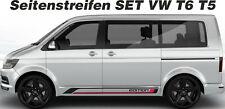 Seitenstreifen Set Edition VW T6 T5 NEU 2 farbig Wunschfarbe