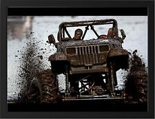 """JEEP WRANGLER 4x4 OFFROADING A3 FRAMED PHOTOGRAPHIC PRINT 15.7"""" x 11.8"""""""