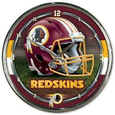 NFL Washington Football Équipe Redskins Horloge Murale Mur Chrome Montre