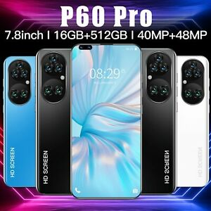 P60 PRO 7.8 Inch Android 11.0 Smartphone Unlocked Dual Sim 3G Phone Mobile
