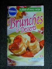 PILLSBURY Cookbook Booklet BRUNCHES AND DESSERTS 2001 #242