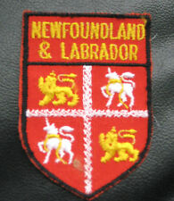 """NEWFOUNDLAND LABRADOR EMBROIDERED SEW ON PATCH CANADA COAT OF ARMS  2"""" x 2 3/4"""""""