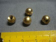 4 boules en laiton diamètre 8 mm , raccord écrou de lustre, suspension,  ...