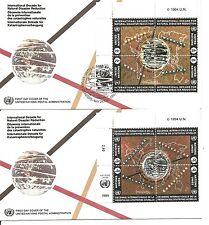 UN / NY SC # 650a/ Geneva 254a Natural Disaster Reduction FDC.Inscription BLK4