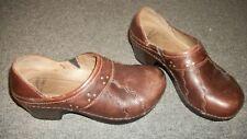 Dansko Clogs 36 5.5 - 6 US Brown Leather Slip On